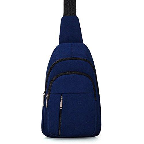 BULAGE Pack Brusttasche Für Männer Oxford Multifunktional Modisch Brusttaschen Reisen Im Freien Komfort Sport Schulter Frauen Blue