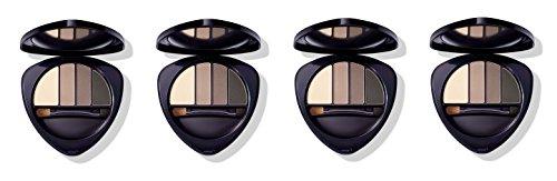 Dr.HAUSCHKA - Eye and Brow Palette 01 Stone 4 boîtes de 4,4 g, Fard à paupières en 100% naturel, tons vellutate et opaques, profondeur et espressività du regard