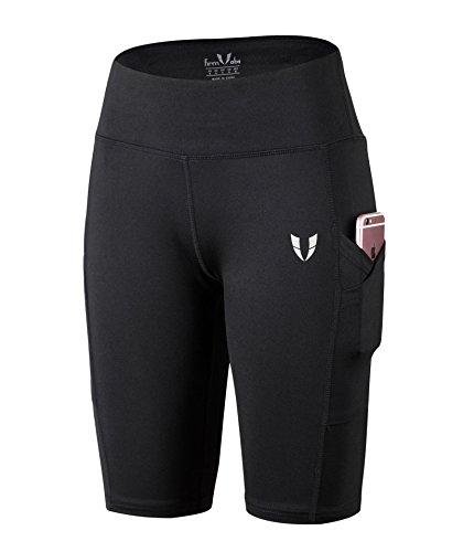FIRM ABS Mädchen Tummy Control Schwarze High Waist Dry Fit Joga Regular Hose (Shorts Curvy Walking)