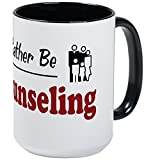 CafePress Kaffeebecher mit Aufschrift'Rather Be Counseling', groß, 425 ml Kaffeetasse, Weiß Large White/Black Inside