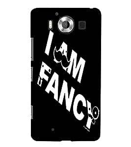 I Am Facy, Black, Beautiful pattern, Amazing Pattern, Printed Designer Back Case Cover for Microsoft Lumia 950 :: Nokia Lumia 950