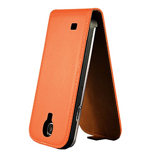 eximmobile–Flip Case Cover Per Apple iPhone in 11colori | PU Custodia in pelle Apple iPhone telefono caso | Custodia a Libro in Pelle PU | Cover custodia | Custodia in finta pelle Orange