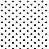 Baumwollstoff Punkte Weiß Schwarz Webware Meterware Popeline OEKOTEX 150cm breit - Ab 0,5 Meter