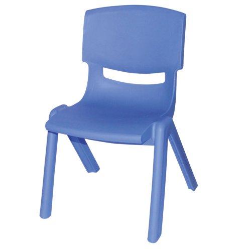 Stapelbarer Kinderstuhl aus hochwertigem Kunststoff in blau, 28x36 cm