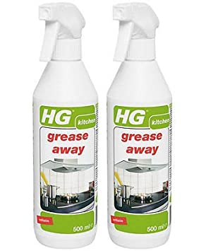 Pack of 2 x HG Grease Away Kitchen Degreaser Spray 500ml: Amazon ...