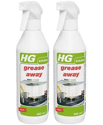 Confezione da 2x HG grasso Away cucina Sgrassatore Spray 500ml