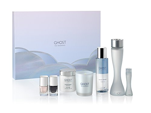 Ghost Fragrance Eau de Toilette Gift Set Mini (Body Butter, Bath Oil, Nail Polish and Candle 50/5/10 ml, 80/50 g)