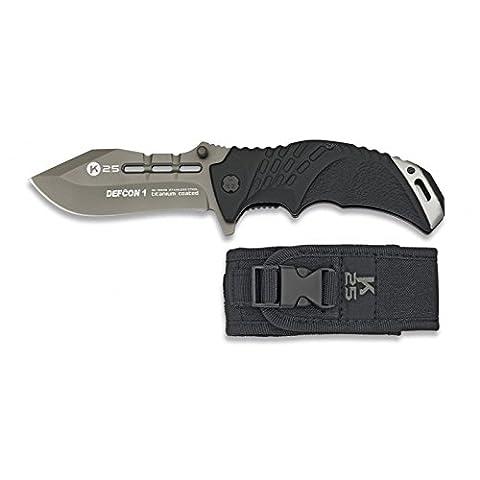 Couteau K25Noir/gris titanium C.