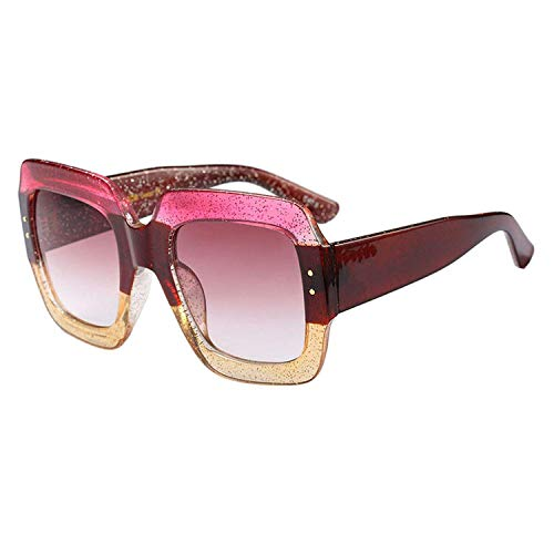 WERERT Sportbrille Sonnenbrillen Oversized Square Sunglasses Women Luxury Designer Red Green Sun Glasses Female Vintage Shades Eyewear