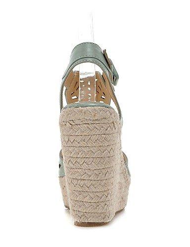 UWSZZ IL Sandali eleganti comfort Scarpe Donna-Sandali-Casual-Zeppe-Zeppa-Finta pelle-Blu / Bianco / Arancione Orange