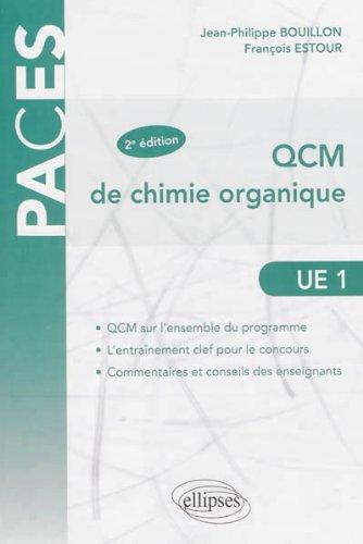 Book's Cover of QCM de Chimie Organique UE1