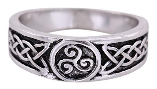 fishhook Attaches de Type Viking Trisceli Noeud Celtique Talisman pour l'amour, la Fertilité et la prospérité Bague pour Homme et Femme (Taille 7,5)