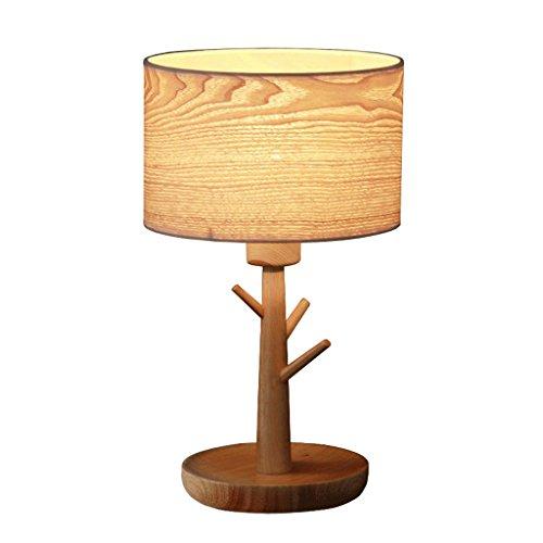 Rinde Wohnzimmer (Tischlampe, Nordic Tree Zweige Schlafzimmer bettseitetischlampe, Retro Carving Holz Kunst Metall Rinde E27 dekorative Wohnzimmer Lichter (Holz Farbe))