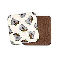 1 x Lazy Koala Bear Coaster - Australia Kids Boys Cool Cartoon Animal Gift #15617