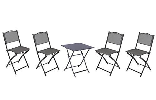 Nach faltbar Metall Stühle & Tisch (Square Bistro-tisch-set)