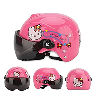 Children's Bike Helmet Electric Sunscreen Half Helmet Road Mountain Bike Cycling Helmet Lightweight Cycle Bicycle Helmets-A1
