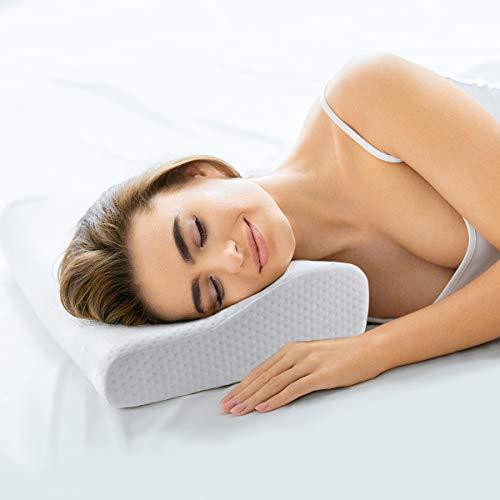 Healifty Orthopädisches Kissen - Thermostat Memory Foam Kissen - Orthopädisches Schlafkissen Für Nacken Schmerzen, tützseitenschläfer, Rücken- und Bauchschläfer - kostenloser Kissenbezug inklusive