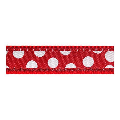 Red-Dingo-Designer-Dog-Collar-White-Spots-on-Red
