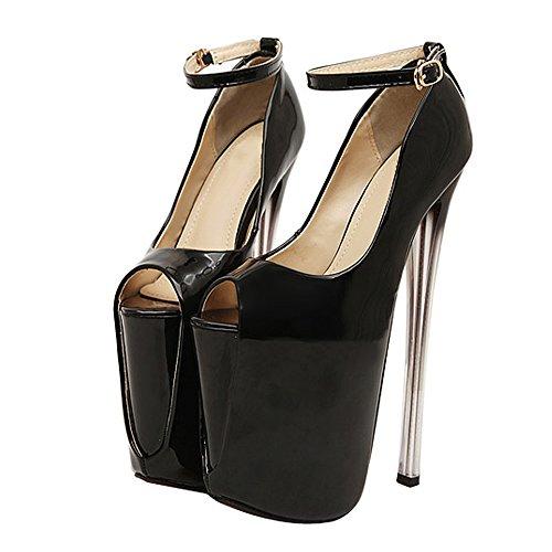 fereshte ,  Damen Peep Toes 19CM-Black
