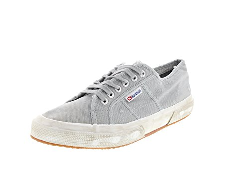 Superga 2750 Cotu Stone Wash, Chaussons Sneaker Adulte Mixte Grau (lt. Grey)