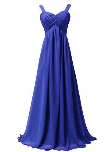 Azbro Women's Empire Waist Ball Gown Prom Bridesmaid Maxi Dress Royal Blue