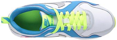 Nike Air Max Trax (Gs) Scarpe Sportive, Ragazzo White/Mtllc Silver-Vlt-Bl Lgn