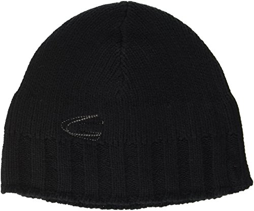 camel active Herren Strickmütze 406360/6M36 Schwarz (Black 9) Medium