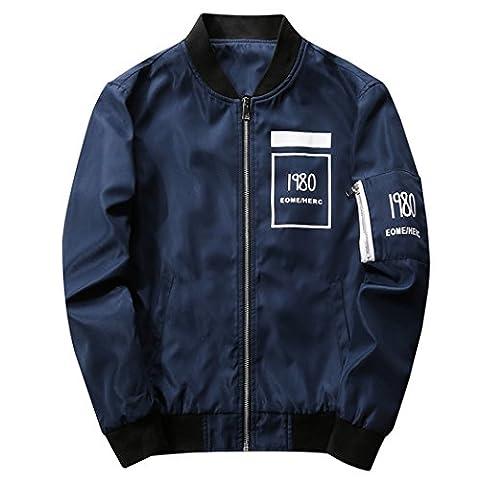 WALK-LEADER - Sweat-shirt à capuche - Personnage - Col Rond - Manches Longues - Homme - bleu - Large
