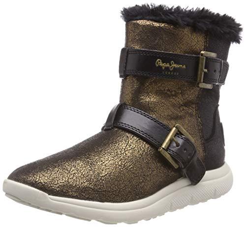 Pepe Jeans London Hyke W Snow, Botas de Nieve para Mujer, Dorado Gold 099, 41 EU