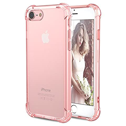 Coque iPhone 8, Coque iPhone 7, [Coussin d'air] [4 Coins Shock-Absorption] Pare-chocs Anti-rayures Soft TPU Etui de Protection pour Apple iPhone 8 4.7