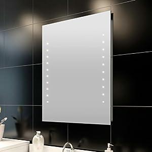Anself Badspiegel Lichtspiegel LED Spiegel Wandspiegel mit Beleuchtung Warmweiß 3 Typ Optional