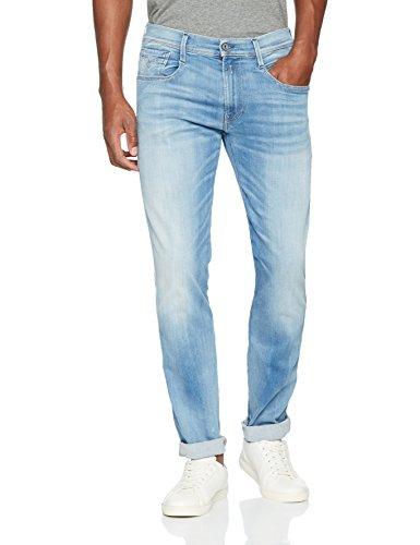 Replay Hyperflex Herren Stretch Jeanshose Anbass Blau (Blue Denim 10)