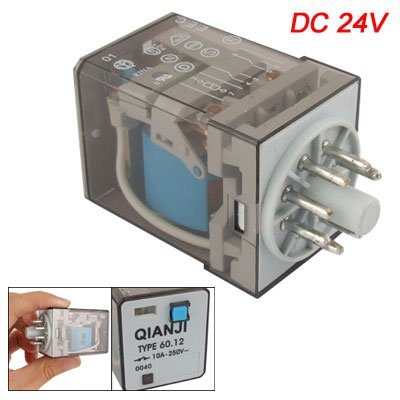 Type 60.12 DC 24V Coil 10A 250V AC 8 Pins DPDT General Purpose Relay