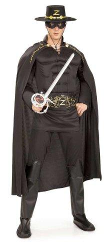 Zorro Muskel Deluxe Kostüm (Deluxe Kostüme Zorro)