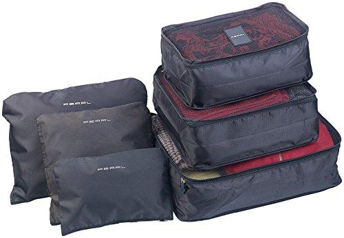 PEARL Koffer Organizer: 6er-Set Kleidertaschen für Koffer, Reisetasche & Co, 6 Größen (Packwürfel)