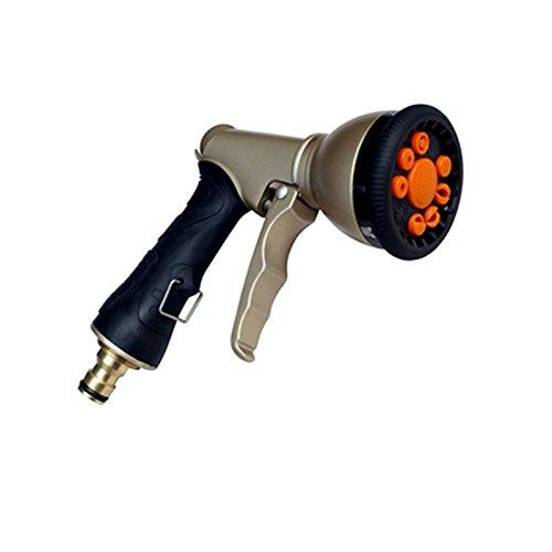 Wiiguda@ Garten Handbrause Hochdruck Autobrause Einstellbar Zink-Sprüher Hochdruckpistolengriff vorne Abzug Gartenschlauch