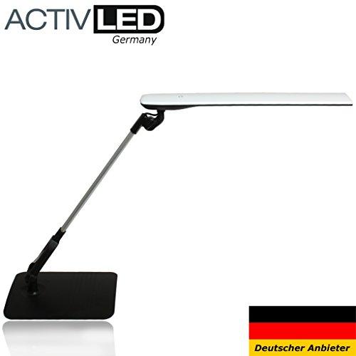 Ob Led (Moderne LED Schreibtischleuchte *Vela* von Activled ob als Büroleuchte oder Schreibtischlampe ein futuristisch anmutender Lichtspender.)
