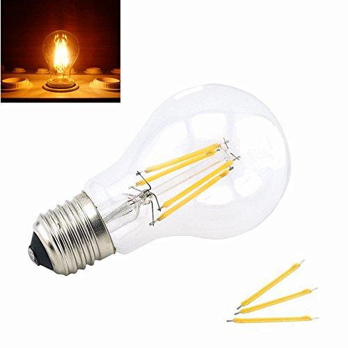 bonlux 4Watt A19Filament LED Leuchtmittel E26Medium Base LED Vintage Leuchtmittel warm weiß 2700K 40W-Ersatz-Glühlampe, glas, 1pcs 4 Watt WW, E27, 4.0 wattsW 220.00 voltsV - A19-glühlampen Medium Base