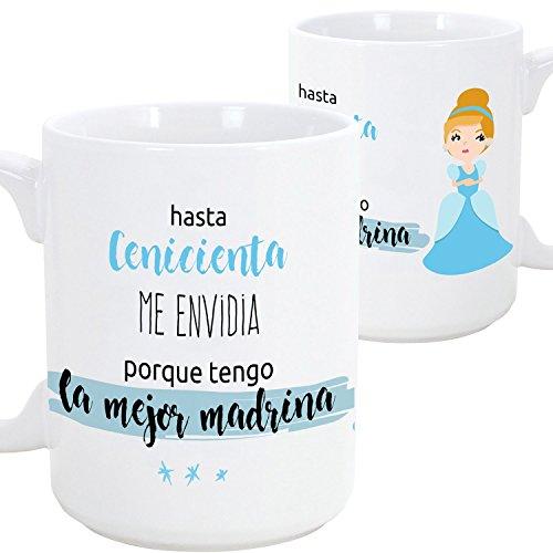 Tazas desayuno originales para regalar a madrinas - Hasta Cenicienta m