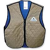 Hyper Kewl Evaporative Cooling Vest, Khaki, Size: Lg, 6529KH-L