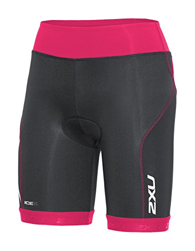 2XU Damen Compression Tri Shorts Triathlon Hose, Ink/Chp, S - Damen Tri-shorts