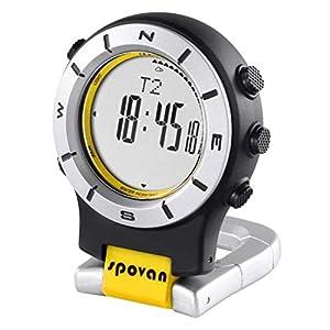 spovan Multifunktions-Outdoor-Sport-Taschenuhr, Kompass, Höhenmesser, Barometer, Stoppuhr, Hintergrundbeleuchtung, für Wandern, Klettern, Camping
