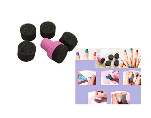 Kit ongles dégradé Tampon + 7 Eponge nail art