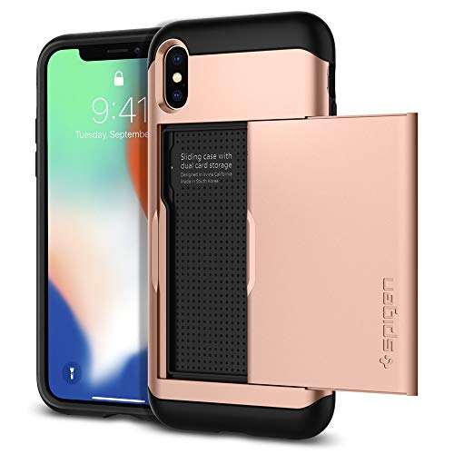 Spigen Coque iPhone X, Etui iPhone X, [Slim Armor...