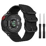 MoKo für Garmin Forerunner 235 Armband, NATO Nylon Uhrenarmband Ersatzarmband Strap für Garmin Forerunner 235/220/230/620/630/735XT, Armbandlänge 5.51