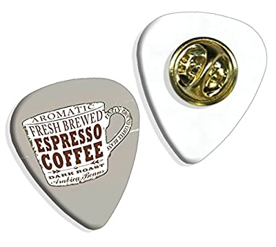 Espresso Coffee Cup Martin Wiscombe Guitar Pick Badge Vintage Retro from Printed Guitar Picks