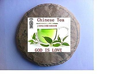 Gâteau au thé pu erh non fermenté organique de qualité supérieure, feuilles larges, sac de 357 grammes