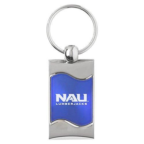 Northern Arizona University-Wave Schlüssel Tag-BLUE by LXG, Inc. -