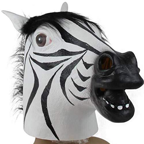 LIGHTOP Pferdemaske Pferde Kostüm Maske Pferdekopf Erwachsene Pferd Einhorn Maske Latex Tiermaske für Halloween Party Dekoration Unisex Einheitsgröße Perfekt Ostern