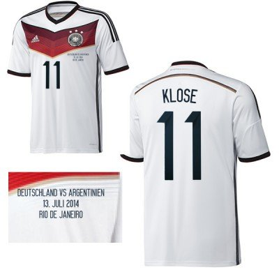 adidas DFB DEUTSCHLAND Trikot Home 2013/2014 - KLOSE 11, Größe:L (Trikot Home Argentinien)